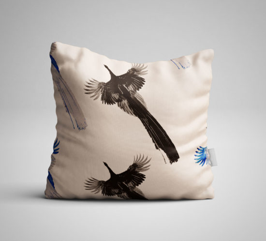 peacocks pillow